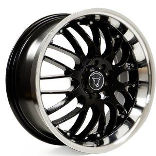 "Toro Wheel 17"" 17x7.5 Black Wheel with Machined Lip 8x100.10x100 114.3 Automotive"
