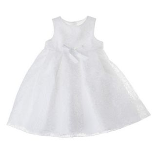Tevolio Infant Toddler Girls Sleeveless Lace Overlay Dress   White 5T