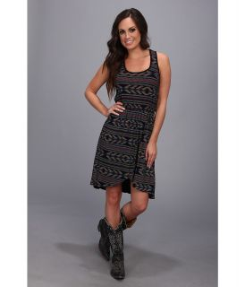 Rock and Roll Cowgirl Sleeveless Dress Womens Dress (Black)