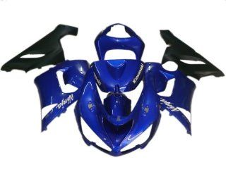 Bodywork Fairing Kit For Kawasaki Nanja 636 ZX 6R 05 06 ABS Plastic Injection Mold Technology (BK45) Free Gifts Heat Shield, Windscreen and Tank Pad Automotive