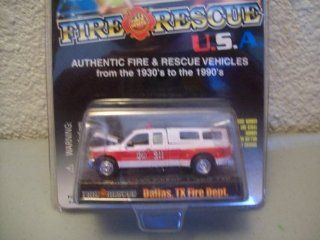 Racing Champions Fire & Rescue USA 1999 Ford F 350 Dallas TX Fire Dept. Toys & Games