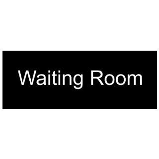 Waiting Room White on Black Engraved Sign EGRE 640 WHTonBLK Wayfinding  Business And Store Signs