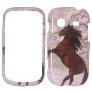 Samsung character R640   Beautiful Horse Snow and Tree Hard Plastic Cover,Case, Face cover, Protector Cell Phones & Accessories