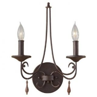 Murray Feiss WB1590RI 2 Light Wall Brackets Rustic Iron Aliya   Flush Mount Ceiling Light Fixtures
