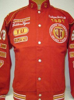 Tuskegee University Golden Tigers Heavyweight Racing Style Snap up Jacket XL  Sports Fan Outerwear Jackets  Sports & Outdoors