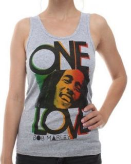 Bob Marley   One Love Smile Ladies Tank Top T Shirt Clothing