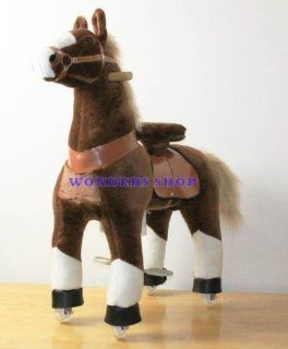 WONDERS SHOP USA Ponycycle Pony Cycle Ride On Horse No Need Battery No Electric Just Walking Horse BROWN   Size MEDIUM for Children 4 to 9 Years Old or Up to 90 Pounds Toys & Games
