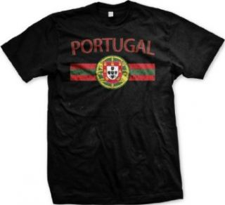 Portugal Crest International Soccer T Shirt, Portuguese Pride Mens T shirt Clothing