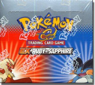 Pokemon Trading Card Game EX Ruby and Sapphire Booster Box Toys & Games