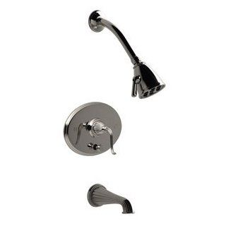 Santec 1134FL TM40 40 48 Satin Nickel/Polished Nickel Bathroom Faucets Pressure Balanced Tub & Shower Set Faucet   Bathtub And Showerhead Faucet Systems