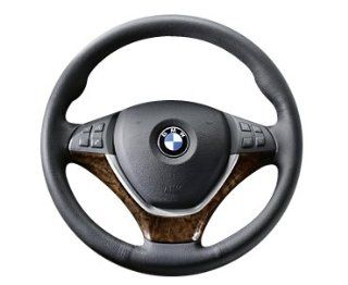 BMW 32 30 0 413 681 Wood Steering Wheel Cover   Burr Walnut Dark Automotive