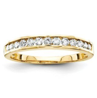 14k Yellow Gold Diamond Bridal Band Ring Jewelry