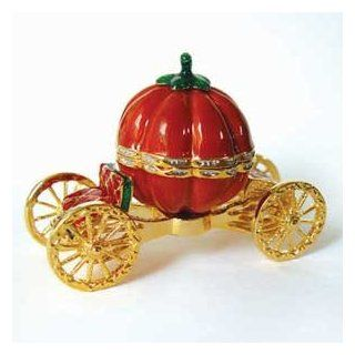 Cinderella's Carriage Pumpkin Box Swarovski Crystals 24K Gold Jewelry Trinket  Cinderella Music Box