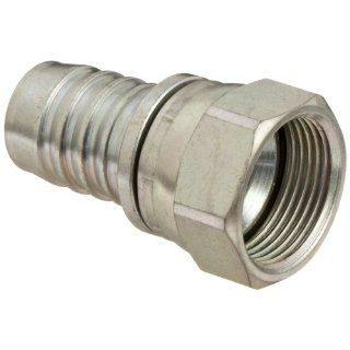 "Dixon 688 16 Plated Steel 37 Degree JIC Hydraulic Suction and Return Line Hose Fitting, Swivel Stem, 1 5/16""   12 Female SAE x 1"" Hose ID Barbed"