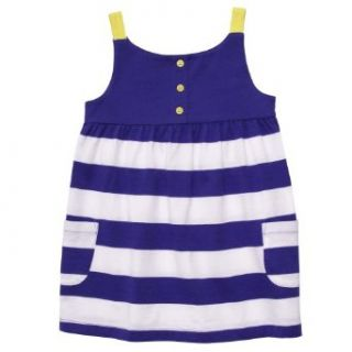 Carter's Girls 2T 4T Stripe Tunic Tank (2T, Blue) Tank Top And Cami Shirts Clothing