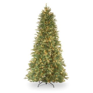 National Tree Co. Tiffany Fir 7.5 Green Slim Artificial Christmas