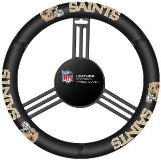 NFL New Orleans Saints Leather Steering Wheel Cover Sports & Outdoors
