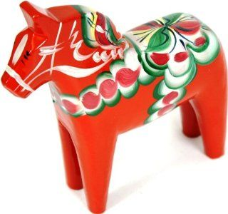 "Traditional Wooden Swedish Dala Horse   Red 6"" (15cm)   Collectible Figurines"