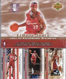 2003 Upper Deck Lebron James 21 Card Phenomenal Beginning Rookie Factory Sealed Box Set at 's Sports Collectibles Store