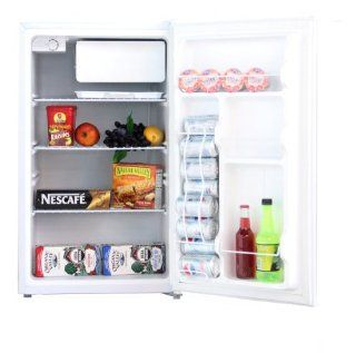 Midea HS 160R Compact Single Reversible Door Refrigerator with Freezer, 4.4 Cubic Feet, White Appliances