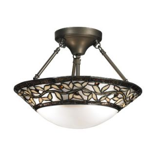 Dale Tiffany Cyprus Oaks 2 Light Semi Flush Mount