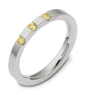 2.5mm Platinum Yellow Sapphire Comfort Fit Wedding Band Ring Jewelry