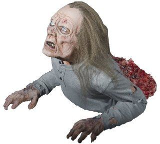 HALF DEAD PROP Haunted House Halloween Yard Decor Realistic Moving Zombie Spooky DU2602 Toys & Games