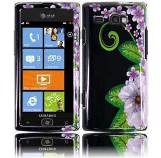 Green Flower Hard Case Cover for Samsung Focus Flash i677 Cell Phones & Accessories