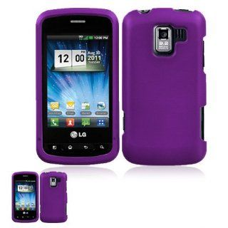 LG Optimus Slider VM701 Purple Snap On Case Cell Phones & Accessories