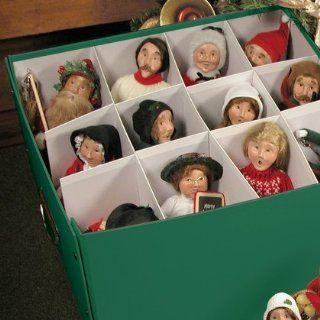 Byers Choice Caroler Condo Storage Boxes   Lidded Home Storage Bins