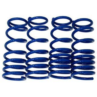 TuningPros LS 007 B Lowering Springs Kit Blue Set of 4 Automotive