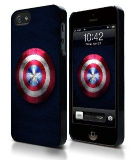 Captain America Shield iPhone 5 Hard Plastic Case Cell Phones & Accessories