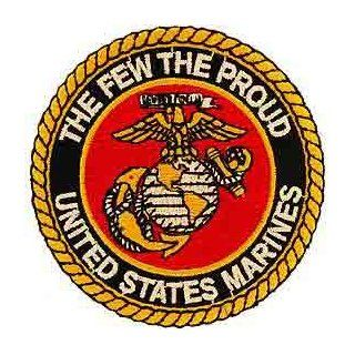 "USMC Marine Corps Military Embroidered Iron On Patch   ""The Few, The Proud"" Eagle Globe Anchor Logo Applique Novelty Baseball Caps Clothing"