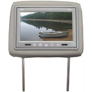 Tview T721plgr 7 Dual Gray Headrests Tft Lcd Car Monitors T721pl gr  Vehicle Dvd Players   Players & Accessories