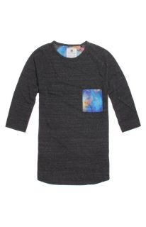 Mens On The Byas Long Sleeve Shirts   On The Byas Ricky Cosmic Pocket Baseball T