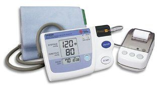 Omron HEM 705 CP Auto Inflate Blood Pressure Monitor with Printer Health & Personal Care