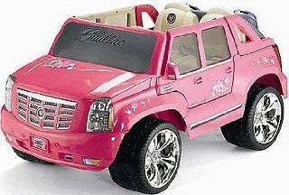 Power Wheels Barbie Pink Cadillac Escalade Toys & Games