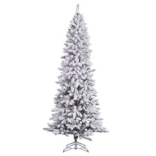 Vickerman 8 White Pine Artificial Christmas Tree with Stand and