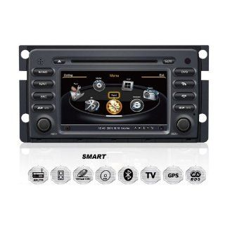 Mercedes Benz Smart ForTwo ForFour OEM Digital Touch Screen Car Stereo 3D Navigation GPS DVD TV USB SD iPod Bluetooth Hands free Multimedia Player  In Dash Vehicle Gps Units