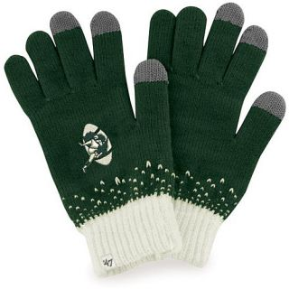 47 BRAND Womens Green Bay Packers Magic Mountain Gloves   Size Adjustable