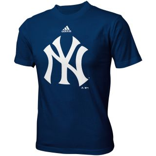 adidas Youth New York Yankees Mascot Short Sleeve T Shirt   Size L, Navy