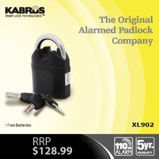 Kabrus High Security Heavy Duty Alarm Padlock / Heavy Duty High Security Alarmed Padlocks / Shipping Storage Containers Security / Caravan, Motorhome, Retail, Farm, Equestrian Saddlery Security Alarmed Padlcok   Alarm Lock Padlock