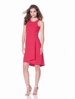 Rachel Roy Collection Women's Crepe Sleeveless Dress, Sexy Red, 2