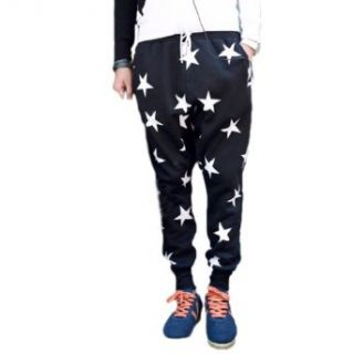 Men's Youth Fashion Stars Loose Dancing Sports Pants w/t Keychain K86 at  Men�s Clothing store Casual Pants