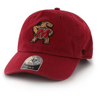 47 BRAND Mens Maryland Terrapins Basic Clean Up Adjustable Cap   Size