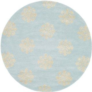 Safavieh Soho Collection SOH724A Handmade Light Blue New Zealand Wool Round Area Rug, 6 Feet