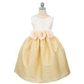 Sweet Kids Girls Ivory Gold Flower Girl Dress 3 6M Sweet Kids Clothing