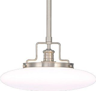 Hudson Valley Lighting 4225 SN Single Light Down Light Pendant from the Beacon Collection, Satin Nickel   Ceiling Pendant Fixtures