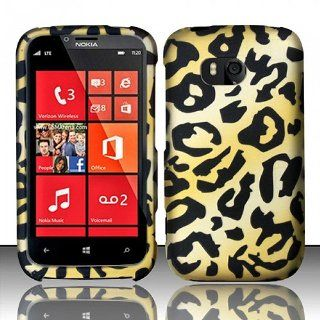 Yellow Cheetah Hard Cover Case for Nokia Lumia 822 Cell Phones & Accessories