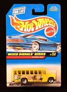 SCHOOL BUS * MIXED SIGNALS SERIES #4 of 4 * HOT WHEELS 1998 Basic Car Series * Collector #736 * Toys & Games